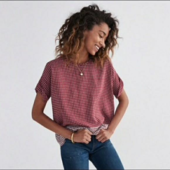48128f96e826d5 Madewell Tops - Madewell  Hart  Silk Shirt